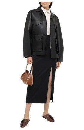 Женская шерстяная юбка TEGIN черного цвета, арт. FS2068   Фото 2