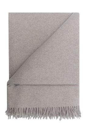Мужского кашемировый плед LORO PIANA светло-серого цвета, арт. FAF9267   Фото 1