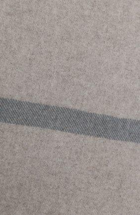 Мужского кашемировый плед LORO PIANA светло-серого цвета, арт. FAF9267   Фото 2
