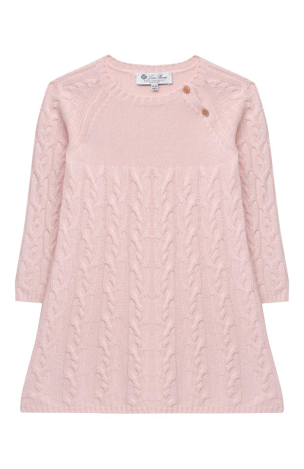 Женский кашемировое платье LORO PIANA светло-розового цвета, арт. FAI7949 | Фото 1