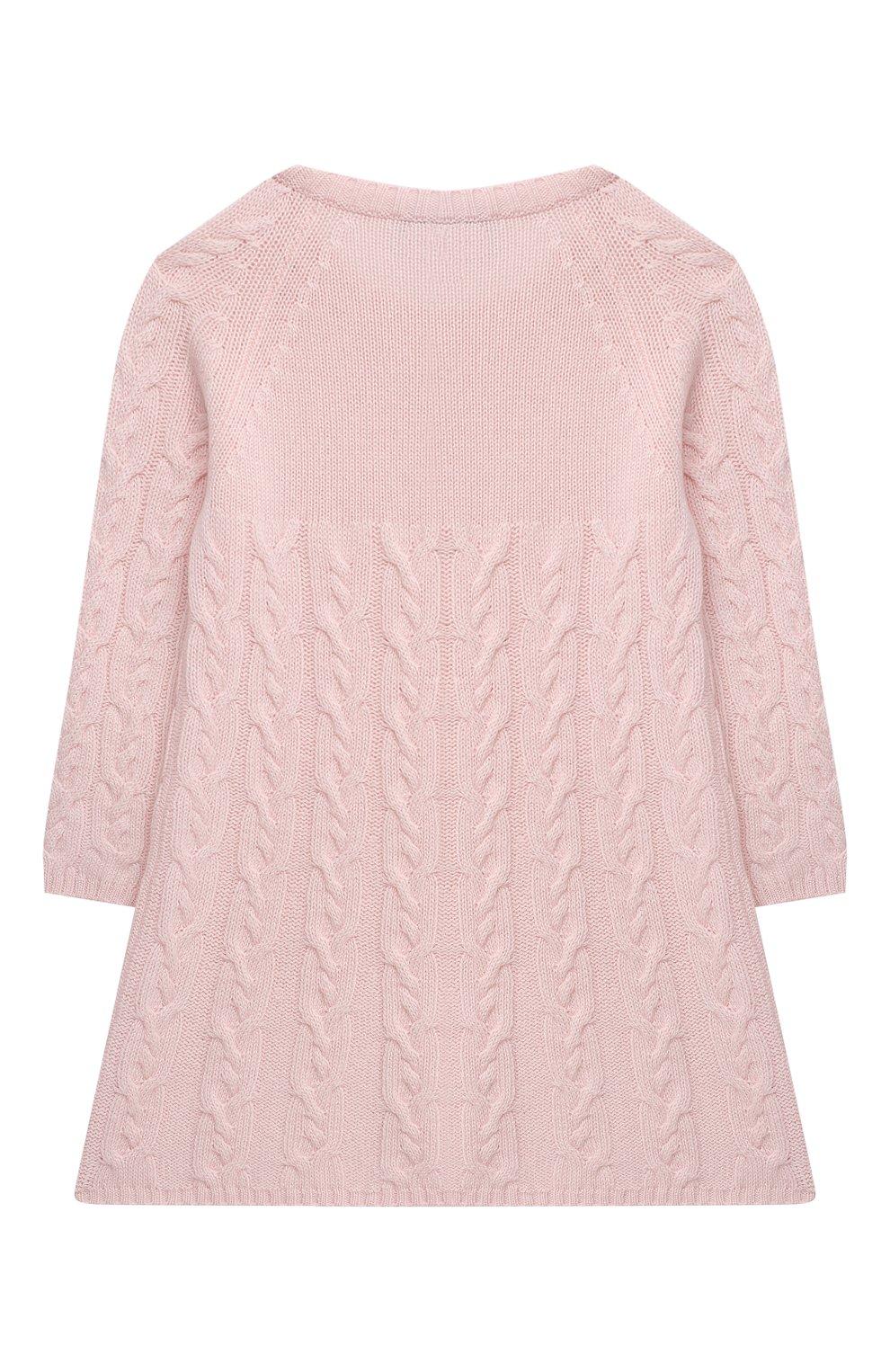 Женский кашемировое платье LORO PIANA светло-розового цвета, арт. FAI7949 | Фото 2