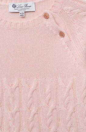 Женский кашемировое платье LORO PIANA светло-розового цвета, арт. FAI7949 | Фото 3