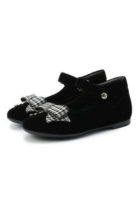 Детские туфли MISSOURI черного цвета, арт. 4394N/27-30   Фото 1