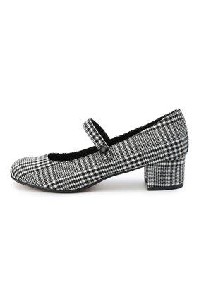Детские туфли MISSOURI черно-белого цвета, арт. 78056M/31-34 | Фото 2 (Материал внешний: Текстиль; Материал внутренний: Натуральная кожа)