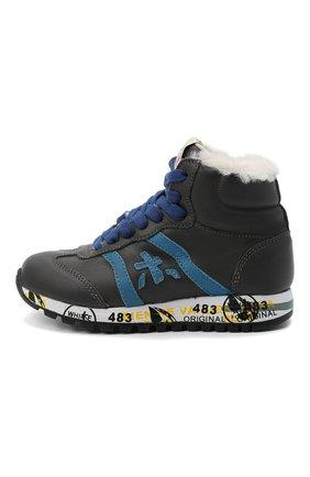 Детские высокие кроссовки PREMIATA WILL BE серого цвета, арт. ADAM-M/M0081312/CHILD   Фото 2