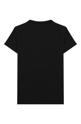 Детская хлопковая футболка VERSACE черного цвета, арт. YC000346/YA00019/8A-14A | Фото 2