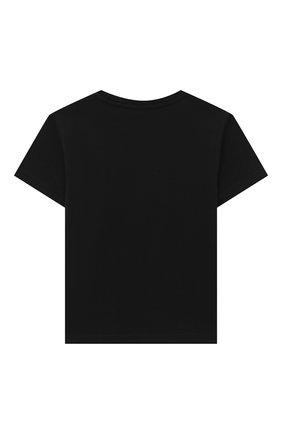 Детская хлопковая футболка VERSACE черного цвета, арт. YC000426/YA00079/4A-6A | Фото 2
