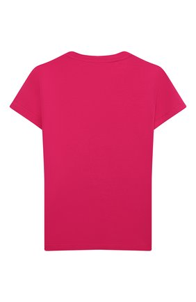 Детская хлопковая футболка VERSACE фуксия цвета, арт. YC000430/YA00019/8A-14A | Фото 2