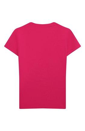 Детская хлопковая футболка VERSACE фуксия цвета, арт. YC000430/YA00019/4A-6A | Фото 2