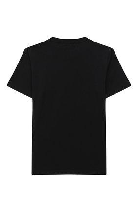 Детская хлопковая футболка VERSACE черного цвета, арт. YD000323/YA00079/8A-14A | Фото 2
