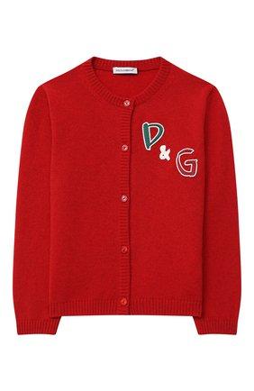 Детский кашемировый кардиган DOLCE & GABBANA красного цвета, арт. L5KWB2/JAW5B/2-6 | Фото 1