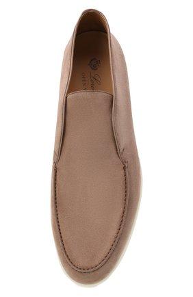 Мужские замшевые ботинки open walk LORO PIANA темно-бежевого цвета, арт. FAB4368   Фото 5