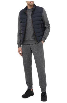 Мужские кожаные кроссовки KITON черного цвета, арт. USSVLAZN00674 | Фото 2 (Подошва: Массивная; Материал утеплителя: Натуральный мех; Материал внутренний: Натуральная кожа; Стили: Классический)
