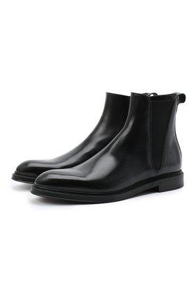 Мужские кожаные челси DOLCE & GABBANA черного цвета, арт. A60321/AX038 | Фото 1