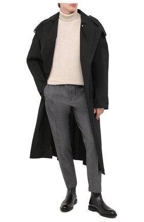 Мужские кожаные челси DOLCE & GABBANA черного цвета, арт. A60321/AX038 | Фото 2