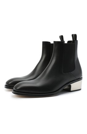 Мужские кожаные челси ALEXANDER MCQUEEN черного цвета, арт. 627208/WHYH1 | Фото 1