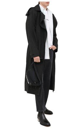 Мужские кожаные челси ALEXANDER MCQUEEN черного цвета, арт. 627208/WHYH1 | Фото 2