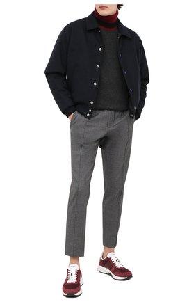 Мужские комбинированные кроссовки TOM FORD бордового цвета, арт. J1262T-LCL116 | Фото 2