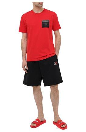 Мужские резиновые шлепанцы BALENCIAGA красного цвета, арт. 565826/W1S80 | Фото 2 (Материал внешний: Резина; Материал внутренний: Текстиль)