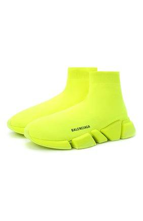 Мужские текстильные кроссовки speed 2.0 BALENCIAGA желтого цвета, арт. 617239/W1726 | Фото 1
