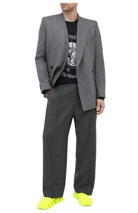 Мужские текстильные кроссовки speed 2.0 BALENCIAGA желтого цвета, арт. 617239/W1726 | Фото 2