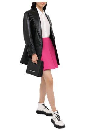 Женская юбка VALENTINO фуксия цвета, арт. UB3RA6A25JN   Фото 2