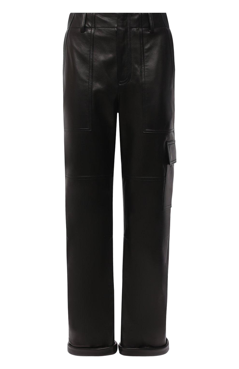 Женские кожаные брюки TOM FORD черного цвета, арт. PAL704-LEX228 | Фото 1