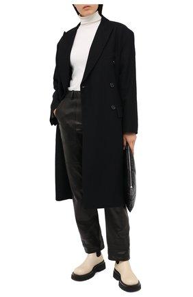 Женские кожаные брюки TOM FORD черного цвета, арт. PAL704-LEX228 | Фото 2
