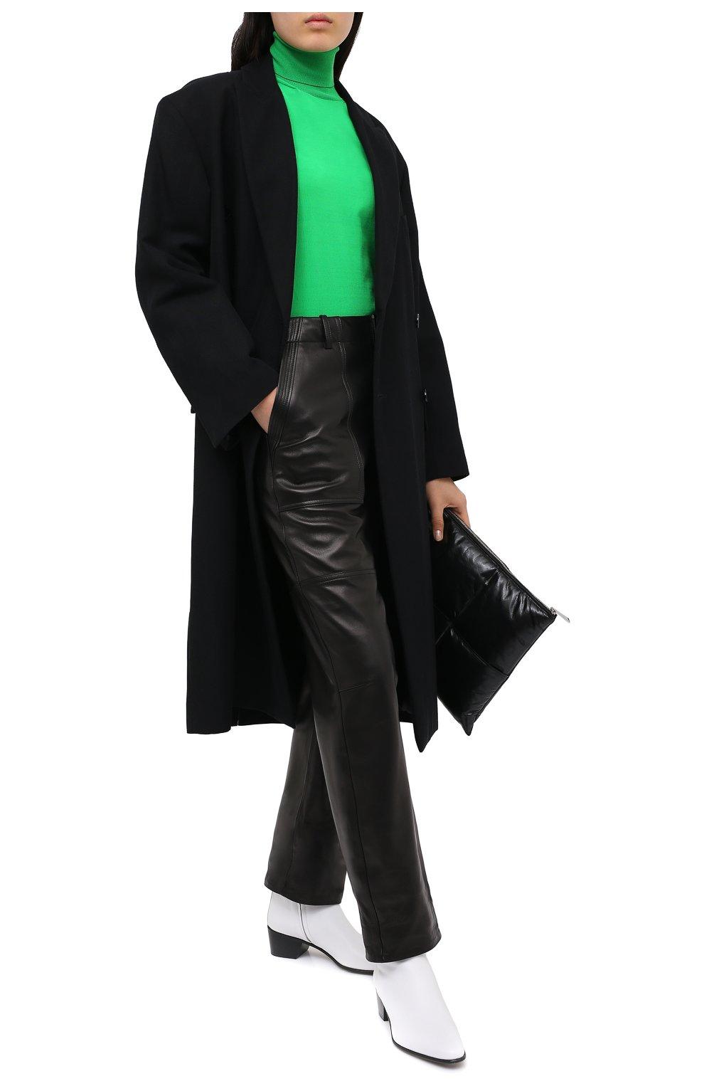 Женские кожаные брюки TOM FORD черного цвета, арт. PAL704-LEX228 | Фото 3