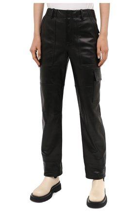 Женские кожаные брюки TOM FORD черного цвета, арт. PAL704-LEX228 | Фото 4