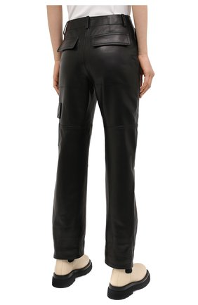 Женские кожаные брюки TOM FORD черного цвета, арт. PAL704-LEX228 | Фото 5