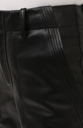 Женские кожаные брюки TOM FORD черного цвета, арт. PAL704-LEX228 | Фото 6