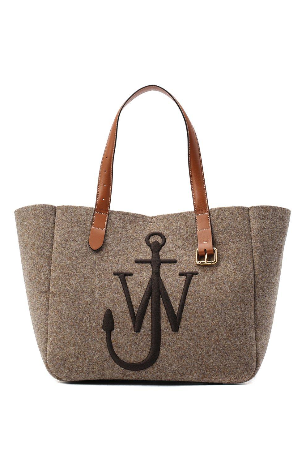 Женский сумка-тоут belt JW ANDERSON коричневого цвета, арт. HB0243 FA0029   Фото 1