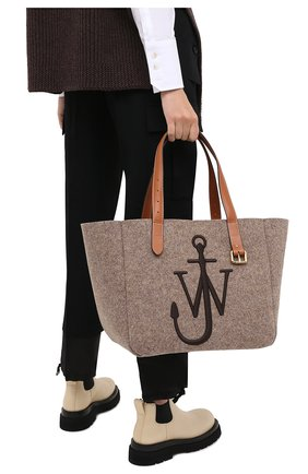Женский сумка-тоут belt JW ANDERSON коричневого цвета, арт. HB0243 FA0029   Фото 2