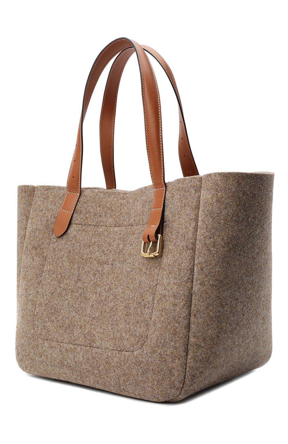 Женский сумка-тоут belt JW ANDERSON коричневого цвета, арт. HB0243 FA0029   Фото 3