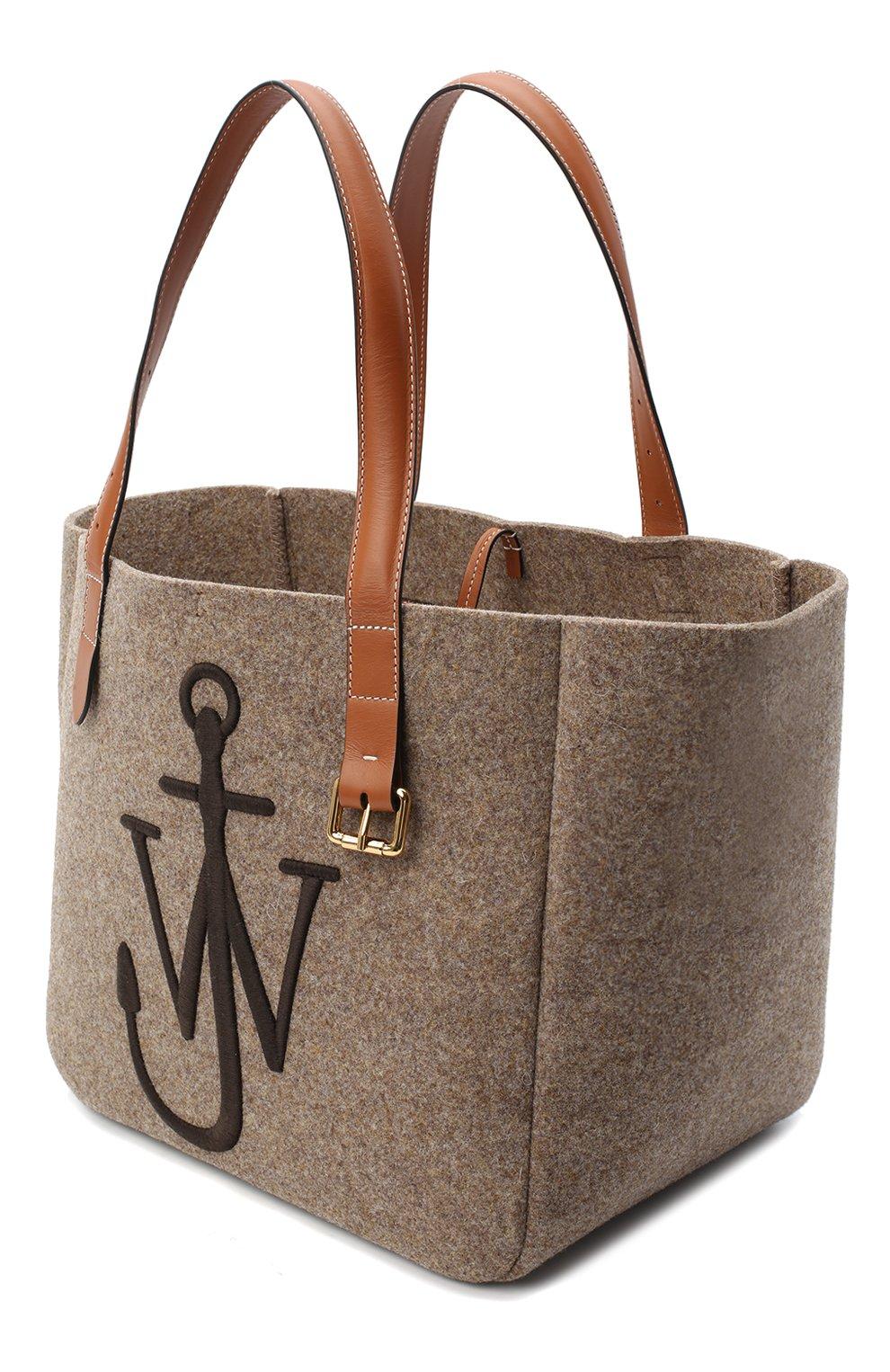 Женский сумка-тоут belt JW ANDERSON коричневого цвета, арт. HB0243 FA0029   Фото 4