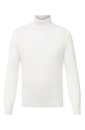 Мужской кашемировый свитер FIORONI белого цвета, арт. MK21024D1 | Фото 1