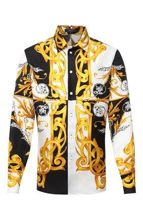 Мужская шелковая рубашка VERSACE разноцветного цвета, арт. A87419/A235781 | Фото 1