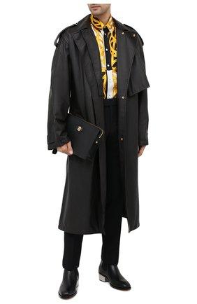 Мужская шелковая рубашка VERSACE разноцветного цвета, арт. A87419/A235781 | Фото 2