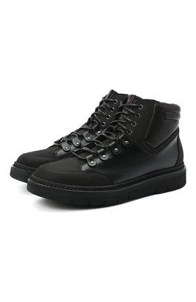 Мужские кожаные ботинки W.GIBBS черного цвета, арт. 0260005/2270 | Фото 1