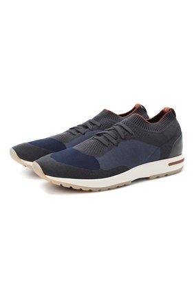 Мужские текстильные кроссовки 360 lp walk LORO PIANA синего цвета, арт. FAL2921 | Фото 1