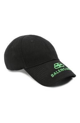 Мужской хлопковая бейсболка BALENCIAGA черного цвета, арт. 577548/410B2 | Фото 1