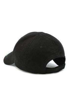 Мужской хлопковая бейсболка BALENCIAGA черного цвета, арт. 577548/410B2 | Фото 2