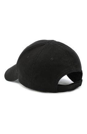 Мужской хлопковая бейсболка BALENCIAGA черного цвета, арт. 617139/410B2 | Фото 2
