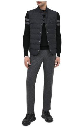 Мужские кожаные кроссовки DOUCAL'S темно-серого цвета, арт. DU2710JUSTPM208NN00 | Фото 2