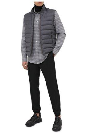 Мужские кожаные кроссовки DOUCAL'S черного цвета, арт. DU2710JUSTPX208NN00 | Фото 2