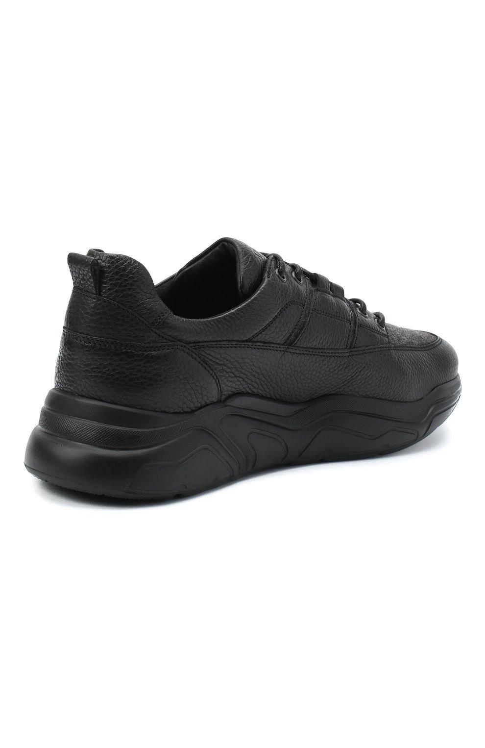 Мужские кожаные кроссовки DOUCAL'S черного цвета, арт. DU2710JUSTPX208NN00 | Фото 4