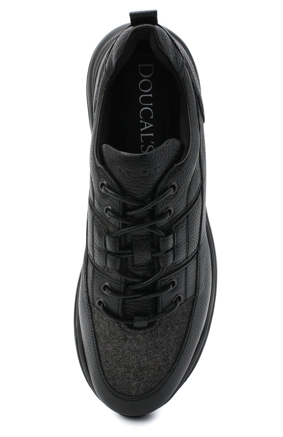 Мужские кожаные кроссовки DOUCAL'S черного цвета, арт. DU2710JUSTPX208NN00 | Фото 5