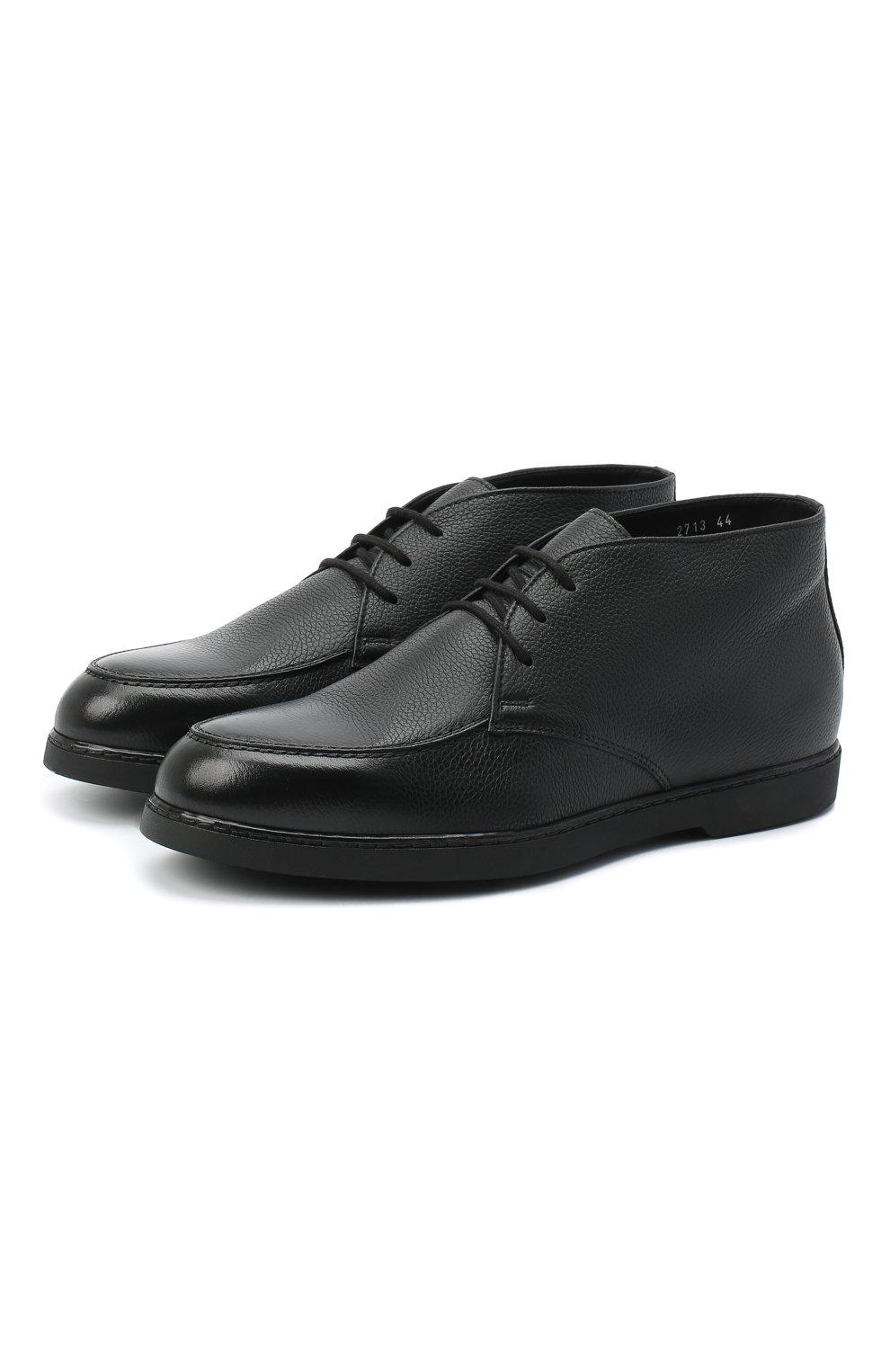 Мужские кожаные ботинки DOUCAL'S черного цвета, арт. DU2713ED0-UM019NN00 | Фото 1