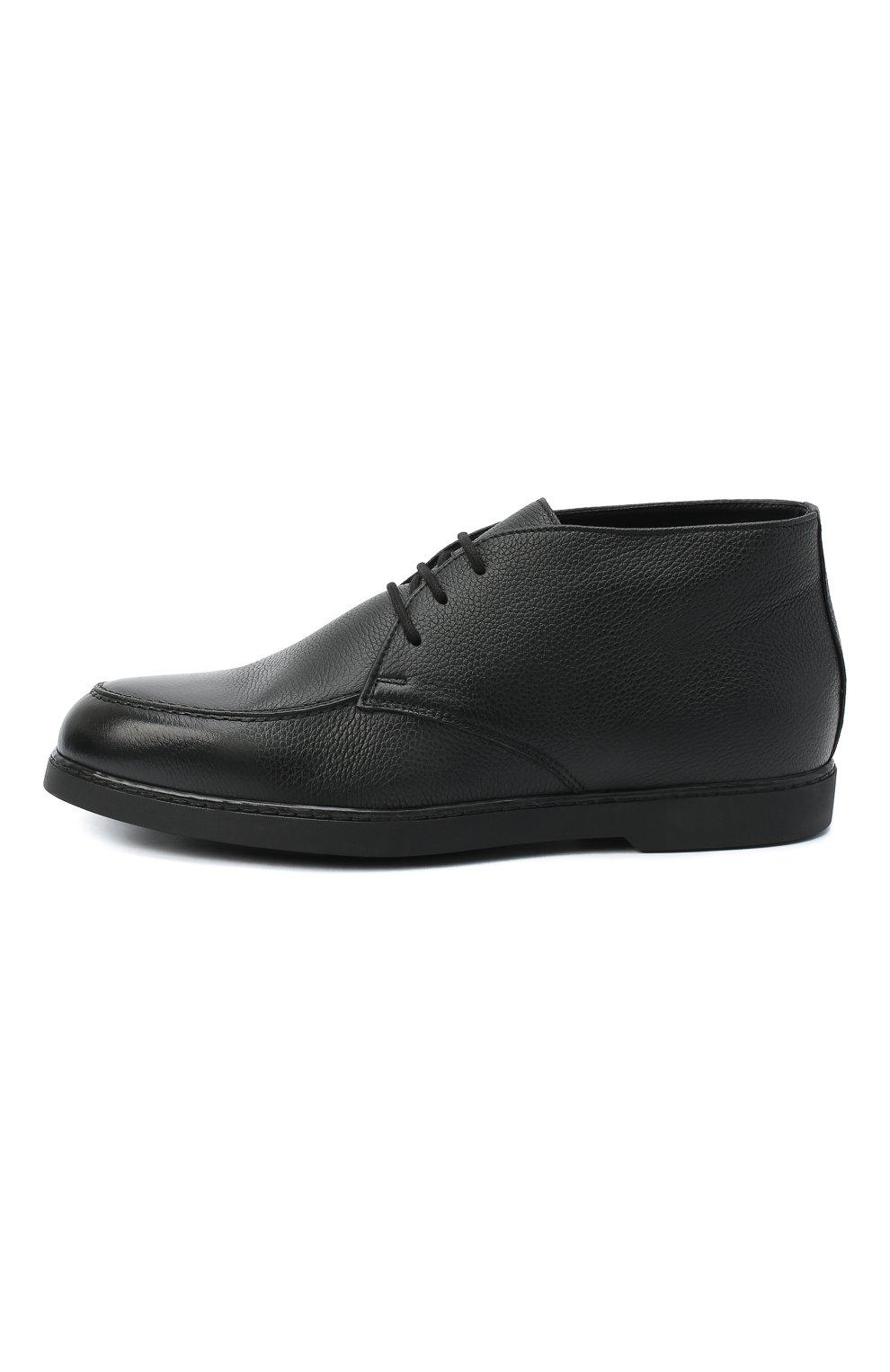 Мужские кожаные ботинки DOUCAL'S черного цвета, арт. DU2713ED0-UM019NN00 | Фото 3